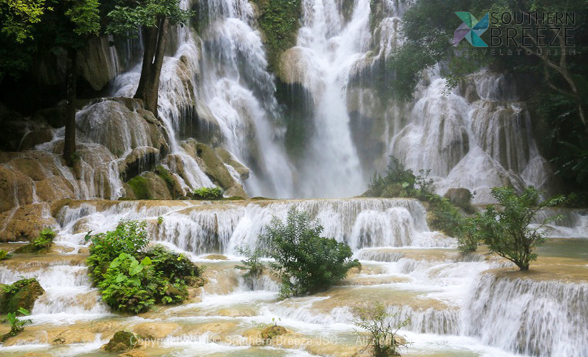 一日トレッキング※ロンラオ村からクアンシー滝へ歩く4-5時間※観光地の入場料は含まない料金となります。