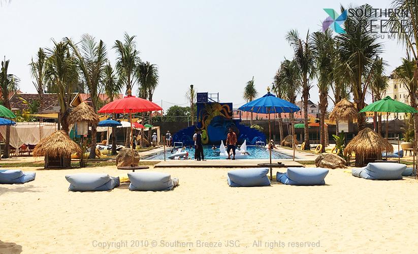 半日:CAMBO BEACH CLUB(カンボビーチ)でビーチ満喫(バウチャー対応)*2H飲み放題、 1軽食 プラン※TUKTUK送迎の場合、最大2時間の御滞在となります。TUKTUK送迎 $7/1台 (最大4名迄)