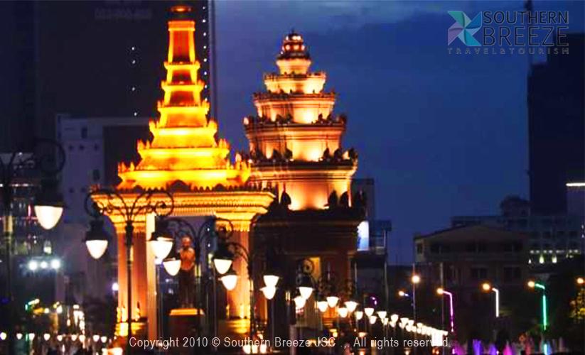 夜市内観光:夕日鑑賞+ライトアップ独立記念塔⁺ナイトマーケット